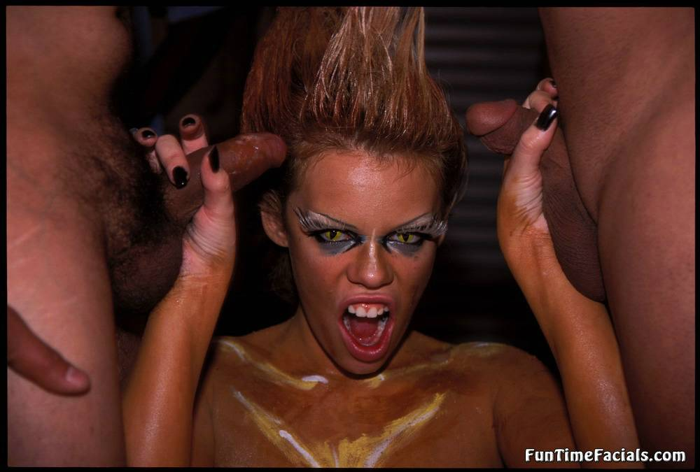 She her bukkake group facials